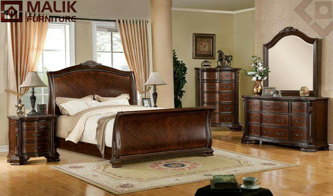 Malik Furniture Double Bed Designs In Wood Wood Dabal Bed